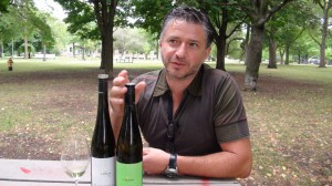 Fred Loimer enjoying a Gruner and Riesling in Trinity Bellwoods Park.
