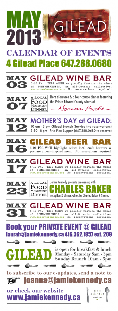 May Calendar Of Events : Jamie kennedy s gilead calendar of events may good