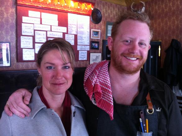 Arlene Stein and Derek Dammann at Maison Publique