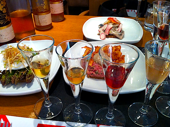 Open faced sandwiches framed by a selection of house made aquavit at The King of Denmark.