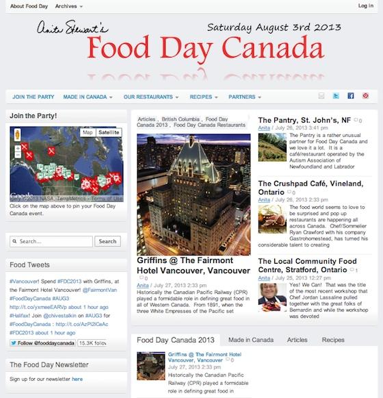 Food Day Canada 2013 Screen Shot