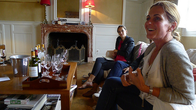 As well as making some superb wines, Caroline Perromat is also the consummate host.