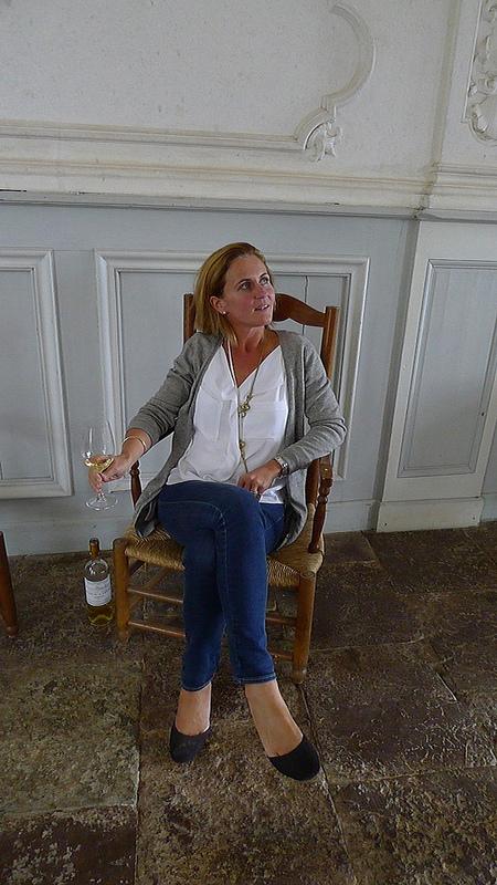 Caroline Perromat at home in Château Cérons, Bordeaux
