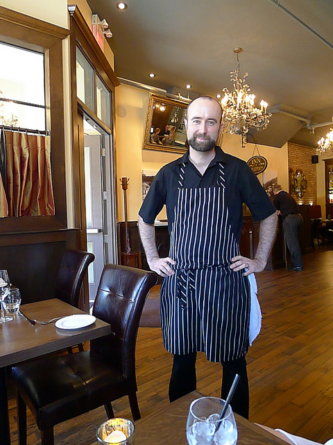 Chef Tim Larsen at Stratford's Mercer Hall.