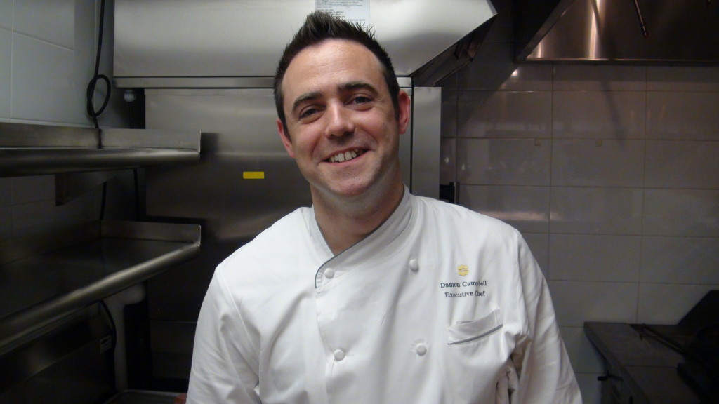 Executive Chef Damon Campbell at Bosk Restaurant in the Shangri-La Hotel, Toronto.