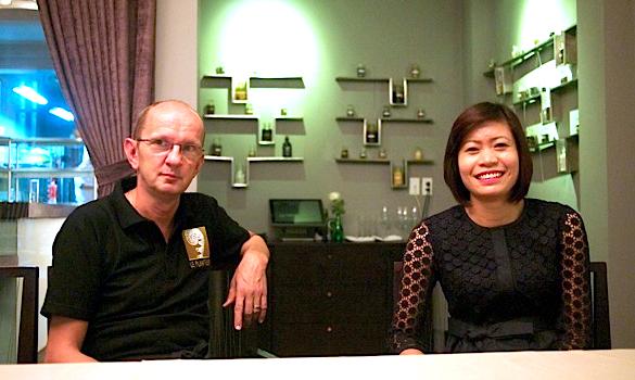 Felix Eppisser and Thao Nguyen in Hanoi