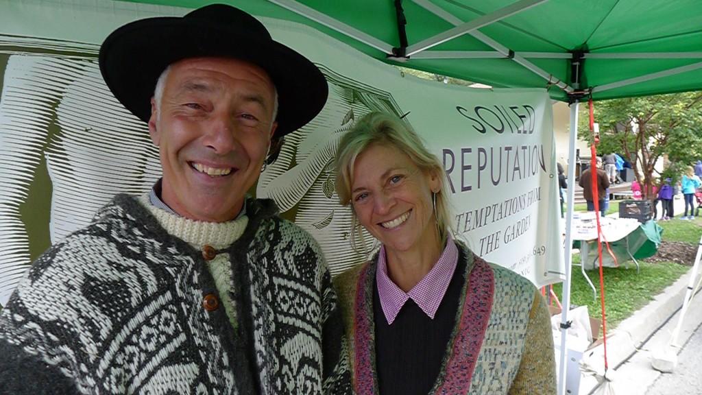 Antony John and Tina VandenHeuvel of Soiled Reputation at the Stratford Farmers' Market