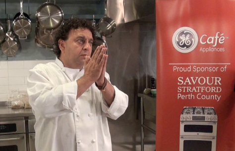 Bringing his spices to the people at Savour Stratford, Chef Vikram Vij.