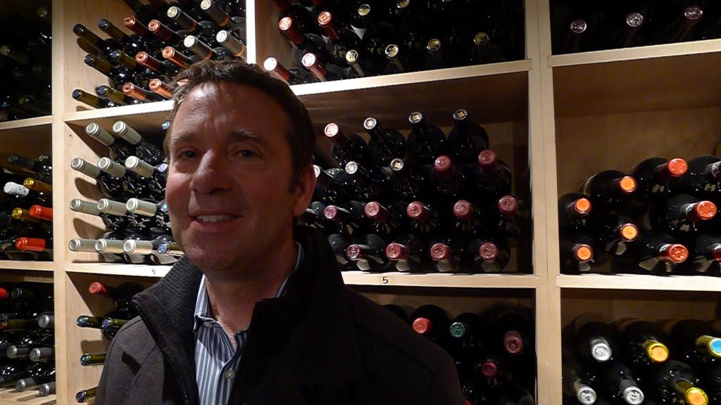 Whitehall Lane's Tom Leonardini in the cellar at Barberian's Steakhouse.