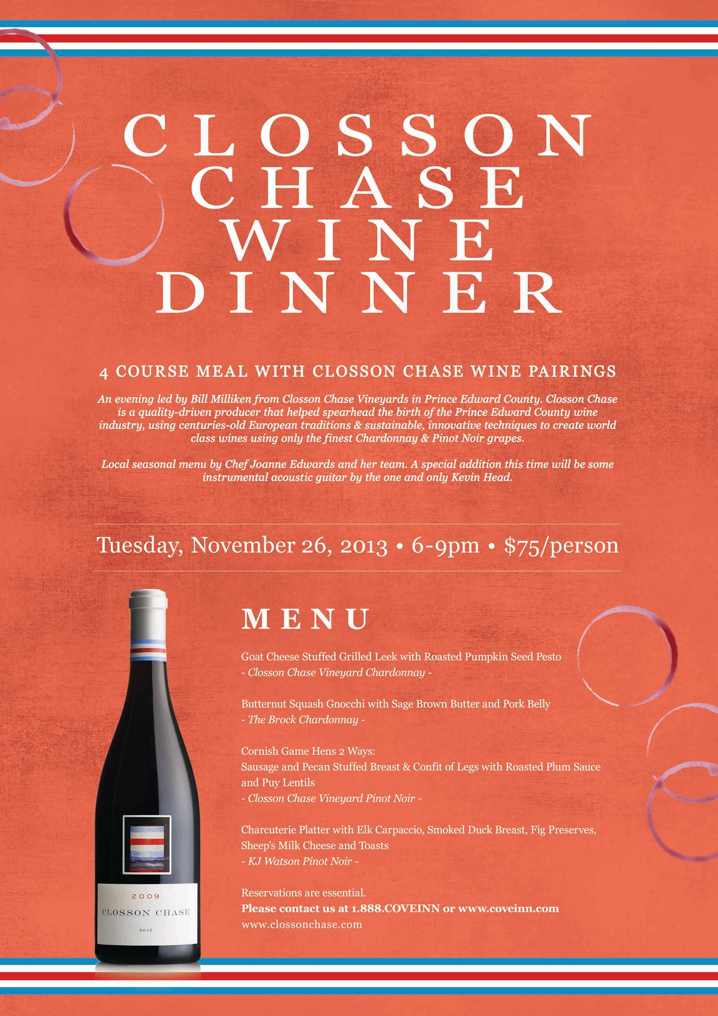Closson Chase Wine Dinner