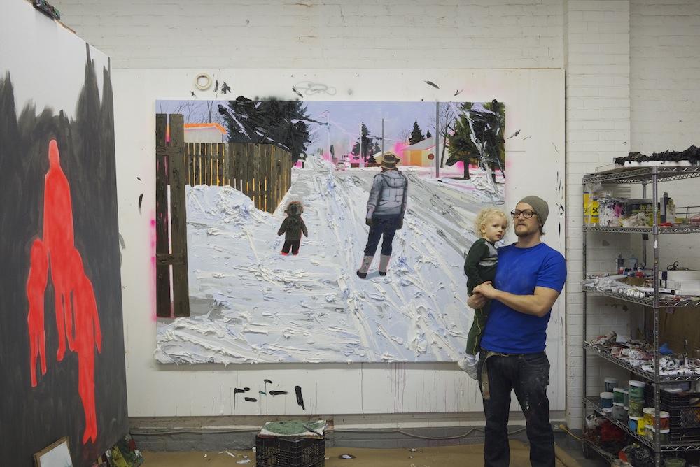 Kim Dorland in his studio