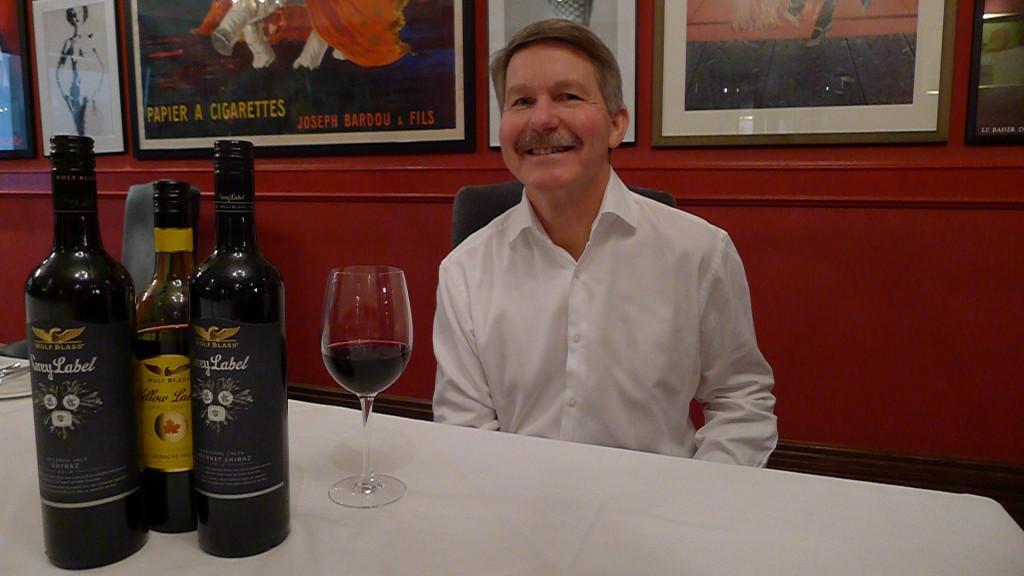 Wolf Blass' Chief Winemaker, Chris Hatcher at Toronto's Biff's Bistro.