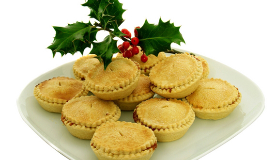 mince pies and holly