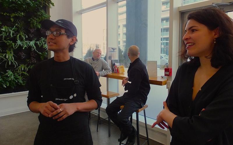 Chef Eko & owners Ian, Evan & Gabrielle