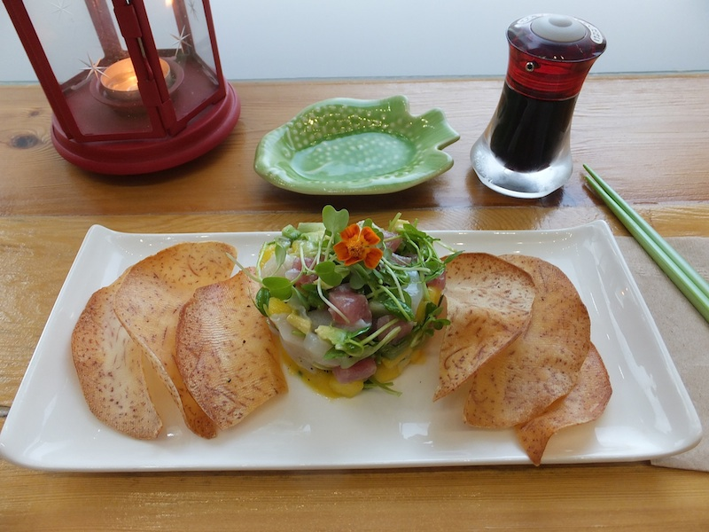 Tuna and Scallop Tartare at Just Sushi