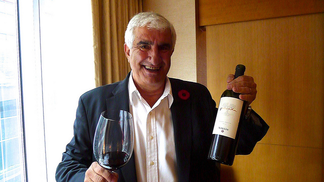 Bodegas Norton's Chief Winemaker Jorge Riccitelli enjoying a sizable glass of his wine.