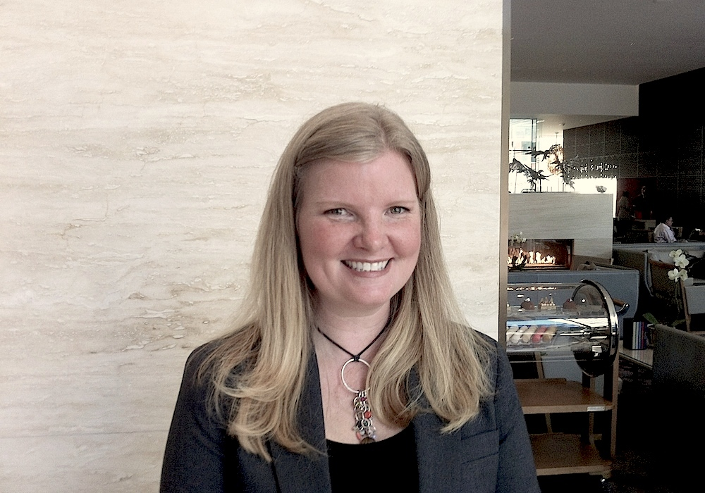 Jennifer Commins of Pluck Tea at the Shangri-la in Toronto