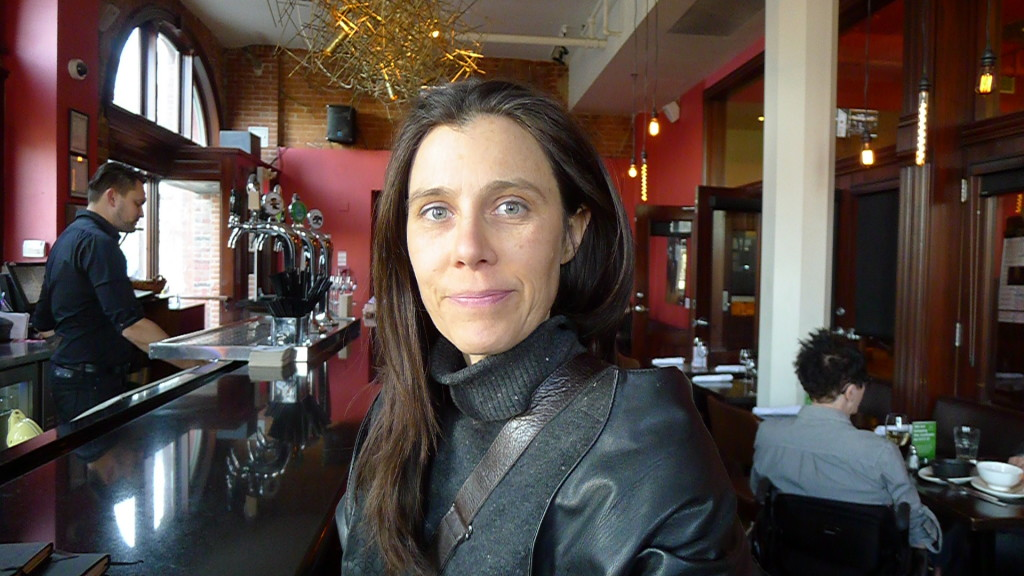 Landscape Architect Victoria Taylor prepares for this year's Grow Op at The Gladstone Hotel.