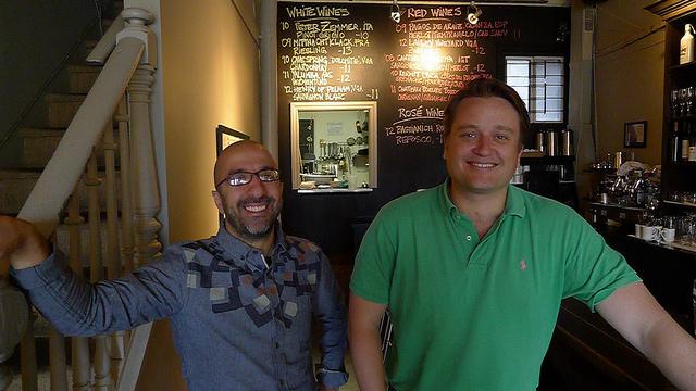 Chef John Sinopoli and Erik Joyal at their Table 17 restaurant in Toronto.