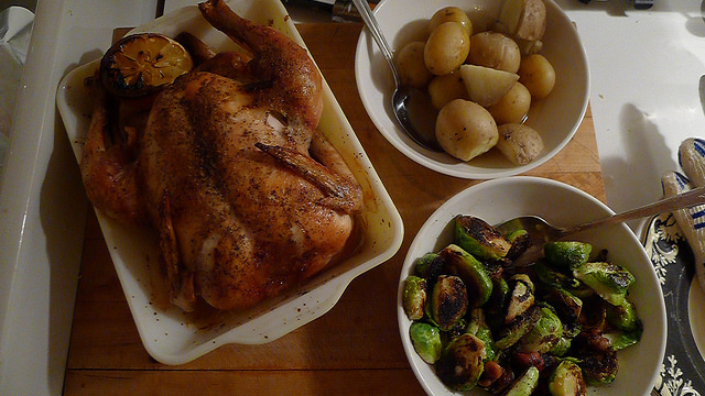 """Classic, unmucked-about-with roast chicken... and its pan juices"" - Nigel Slater"