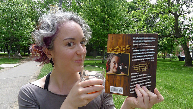 Beerology's Mirella Amato enjoying a noontime chilled beverage in Trinity Bellwoods Park, Toronto.