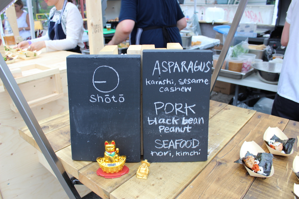 Shoto menu at The Night Market