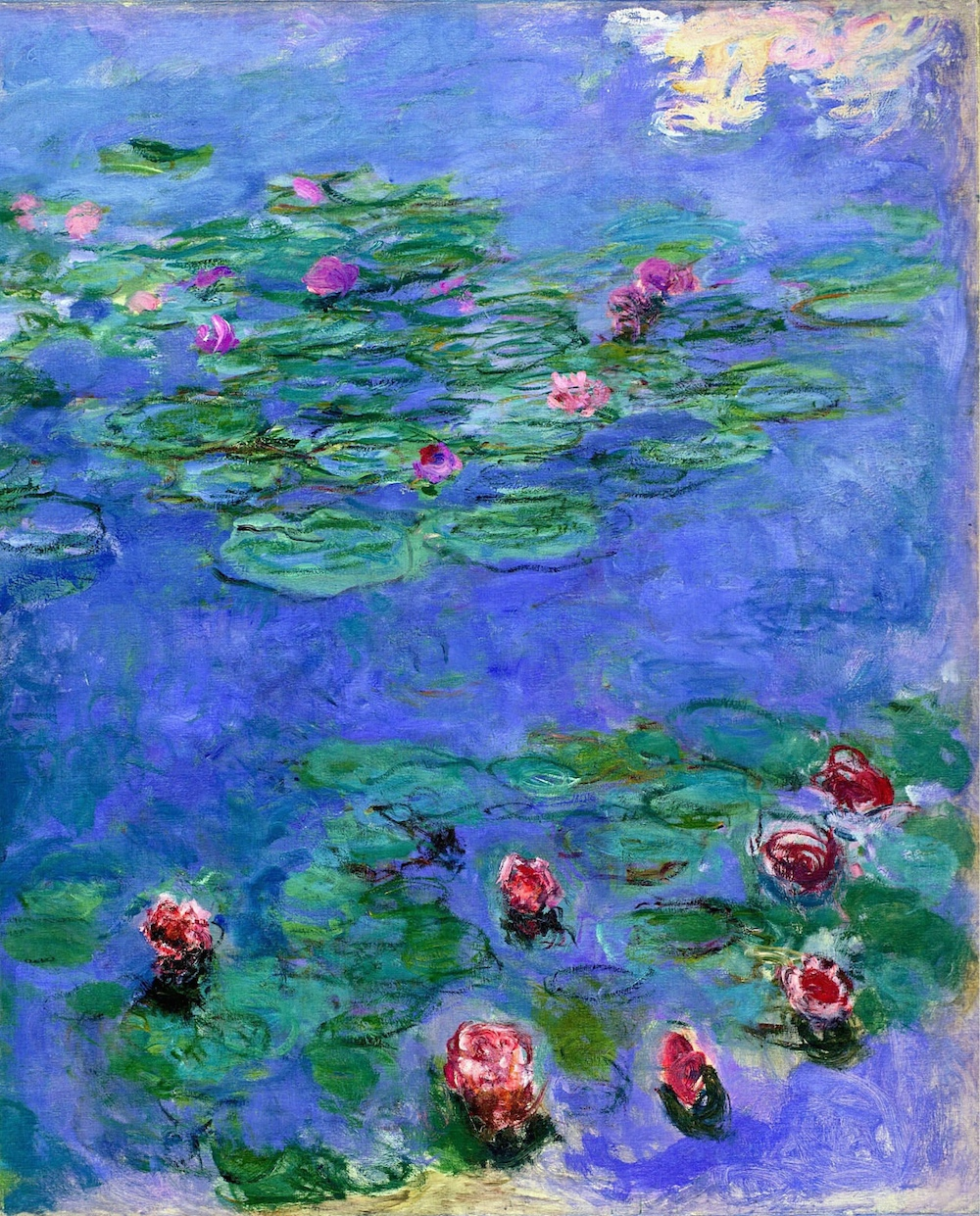 Monet Water Lillies Red