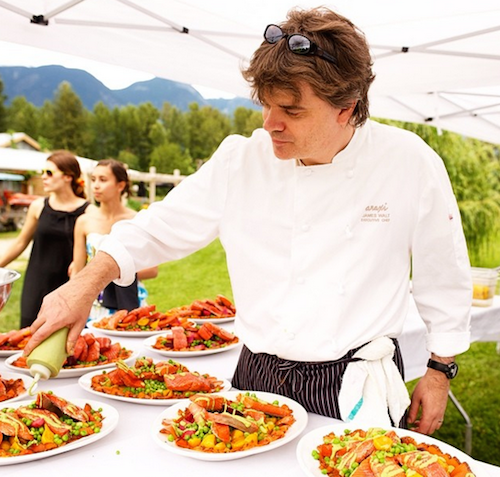 Chef James Walt of Araxi Restaurant