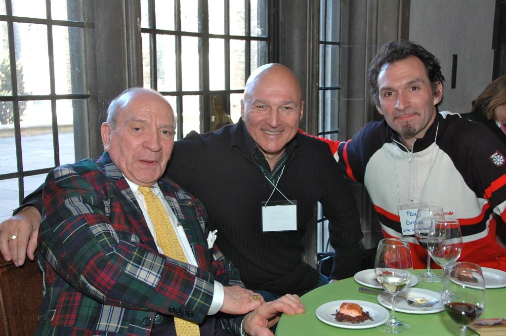 J. Charles Grieco alongside his son Paul and friend Donald Ziraldo.