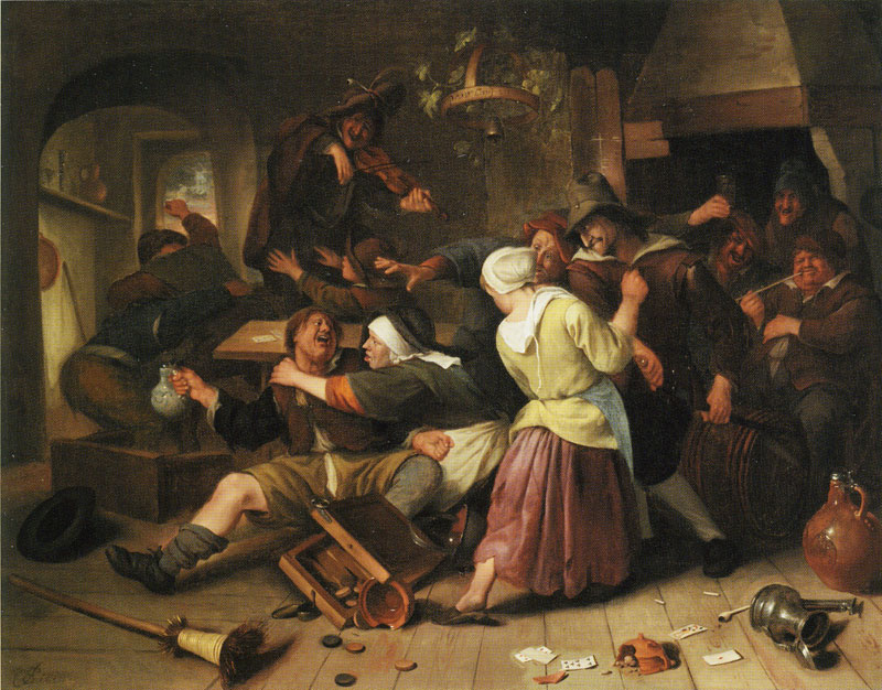 Jan Steen Gamblers Quarreling 1665