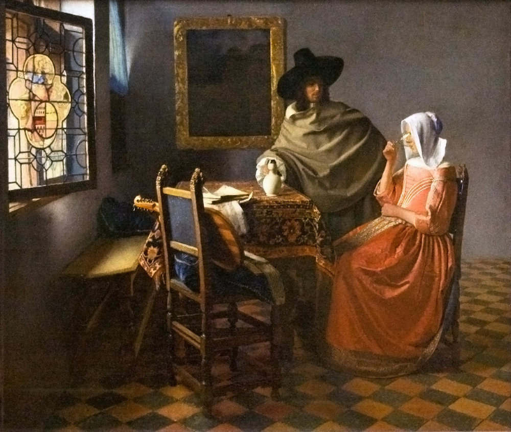 The Glass of Wine by Johannes Vermeer 1660