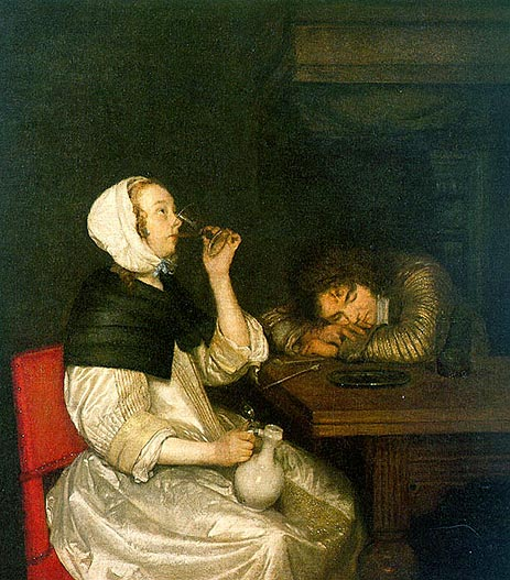 Woman Drinking Gerard der Borch