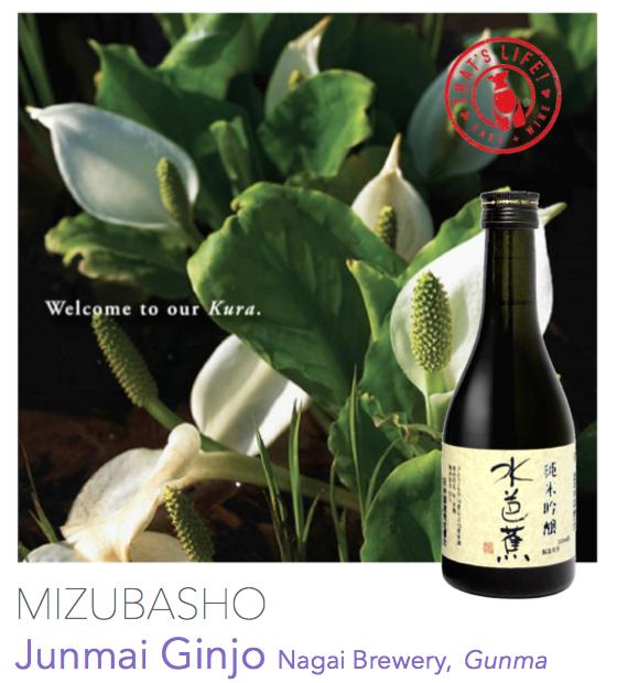 Mizubasho Junmai Ginjo Nagai Brewery Gunma