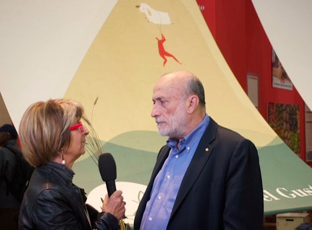 Carlo Petrini is interviewed at Terra Madre 2014