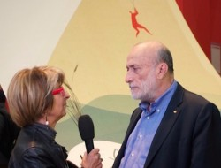 Petrini being interviewed