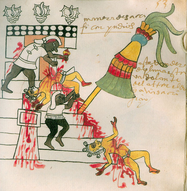 aztec human sacrifice codex tudela