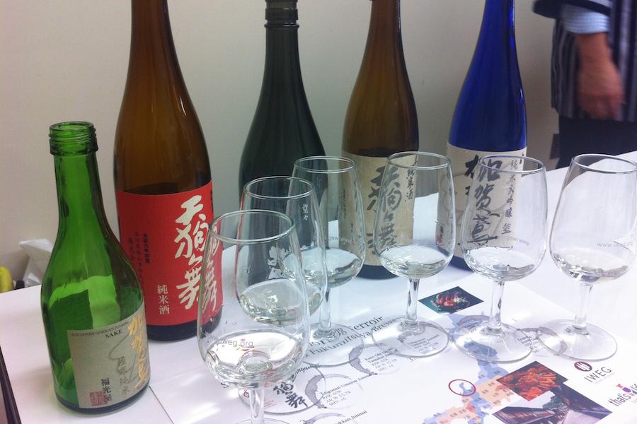 Sake Bottles at Tasting