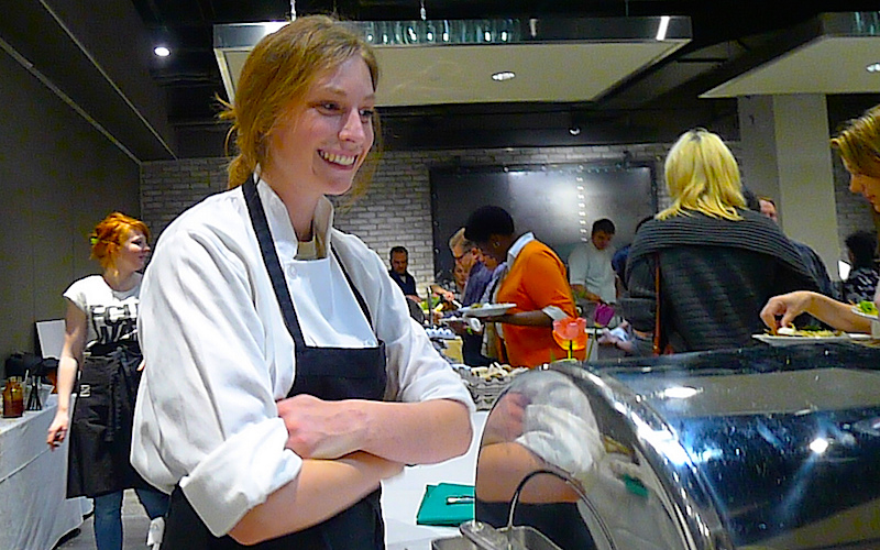 Chef Alexandra Feswick of The Drake Hotel, pictured at the 2012 Terroir Symposium, will participate in Chefs For Change. Photo: Ginger Hucknell.