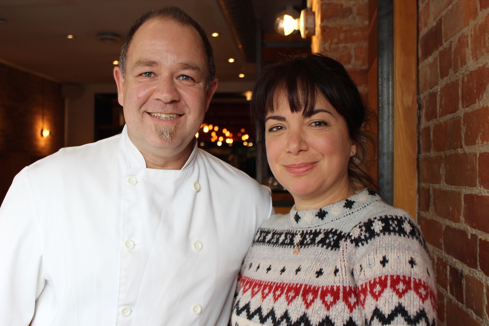Rocco Agostino and Amy Rosen at Pizza Libretto on Ossington