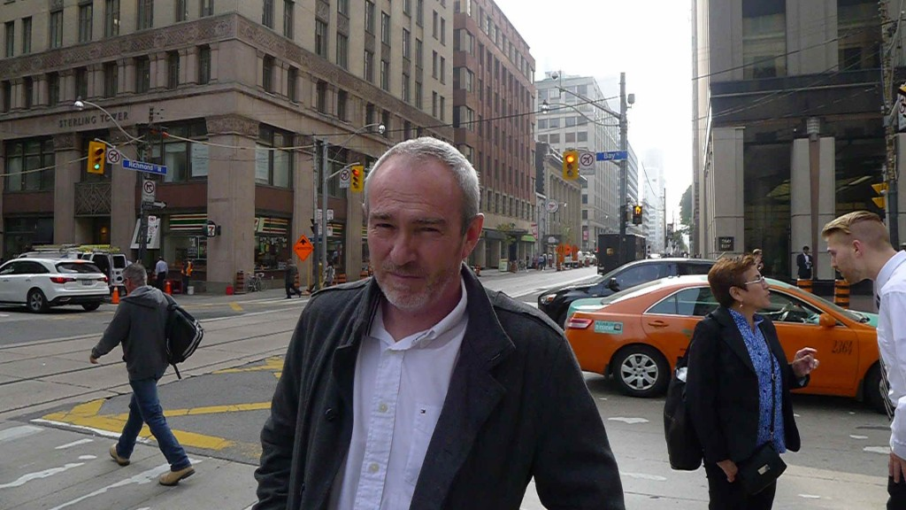Greywacke Winemaker Kevin Judd looking rather mean and moody in Toronto.