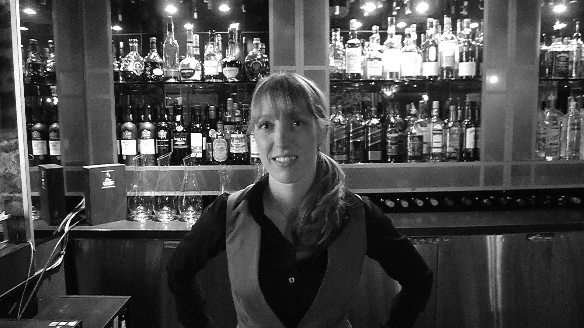 Sommelière Rebecca Meir-Liebman at BLU, Yorkville, Toronto.