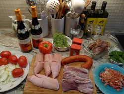 The mis en place for my ill-advised foray into the world of competitive Catalonian cooking...