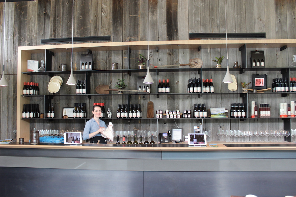 Emily Sider at Red Stone wine store