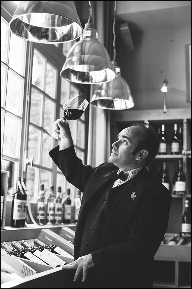 Sommelier Olivier Zavattin vetting the wines for the visit of Lord Sabre AKA DJ Andrew Weatherall - All Rights Reserved © Ludo Charles