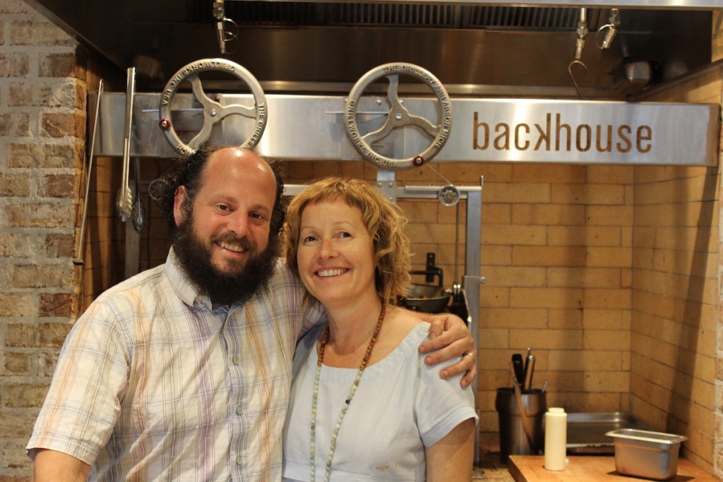 Ryan Crawford and Beverly Hotchkiss at Backhouse
