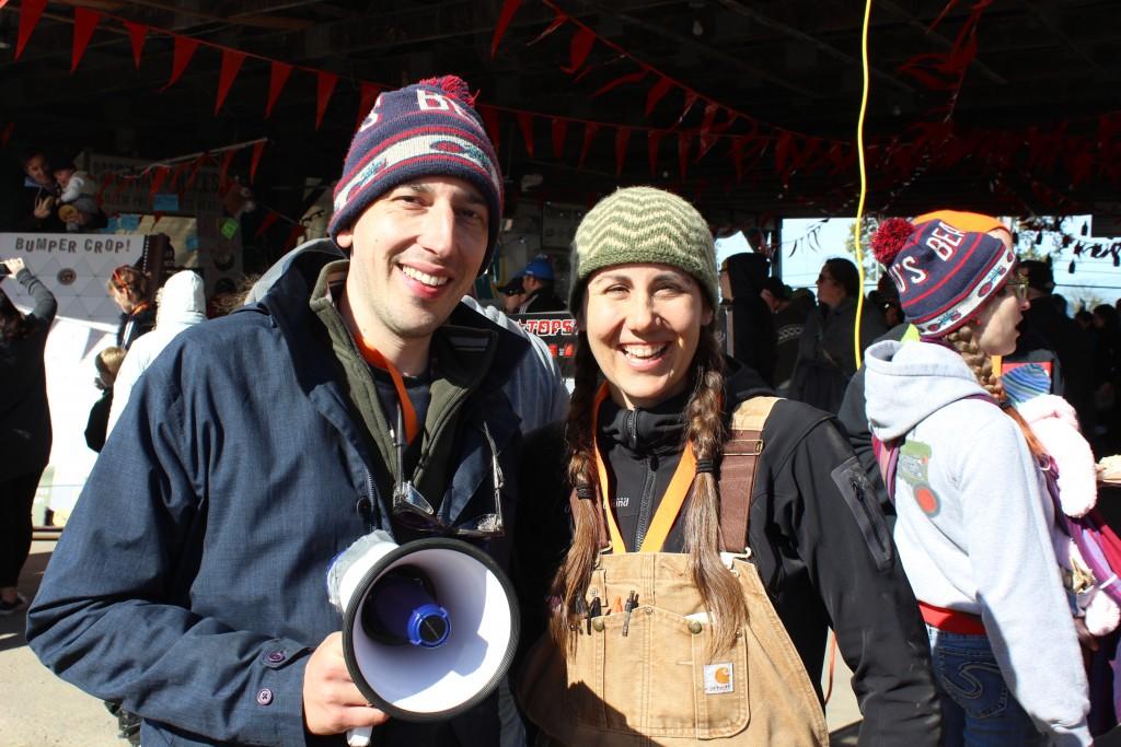 Jay Garlough and Katrina Siks from Hidden Harvest