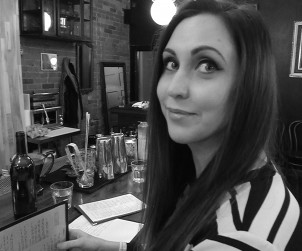 Emily Bibona relaxing over a half pint of beer at Northern Belle.