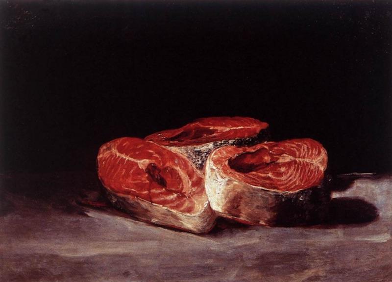 Goya Salmon Still Life