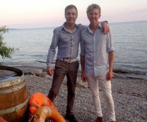 Winemaker Bruno Francois and partner Jens Korberg take a break from making some great wine (and cider) at The Old Third, Prince Edward County
