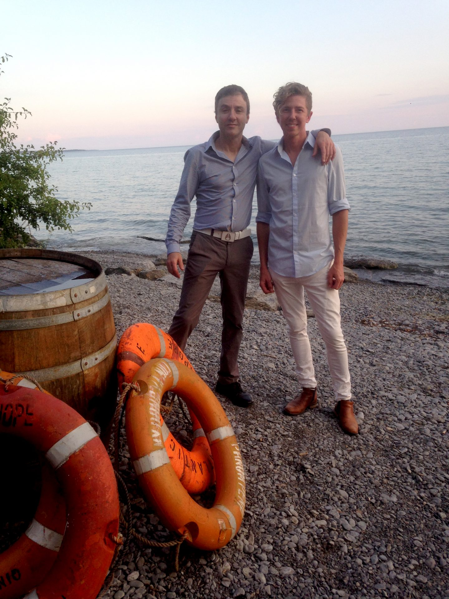 Winemaker Bruno Francois and partner Jens Korberg take a break from making some great wine (and cider) at The Old Third, Prince Edward County.